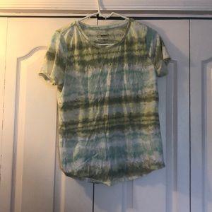 green tie dye tee shirt
